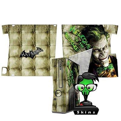 Skin xbox 360 slim Joker welcome to the madhouse