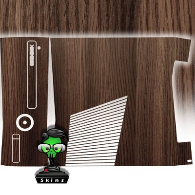 Skin xbox 360 slim textura madeira