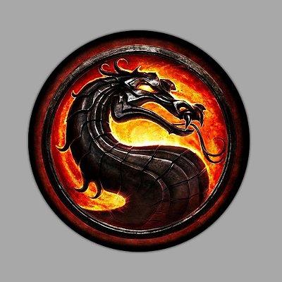 Mortal kombat dragon logo Sticker