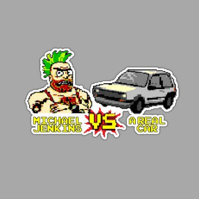 Man Vs Car Rick and Morty Sticker