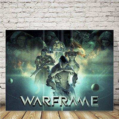 Warframe Placa mdf decorativa