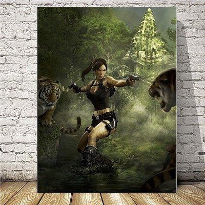 Tomb raider Lara  Placa mdf decorativa