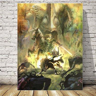 The legend of Zelda wolf Placa mdf decorativa