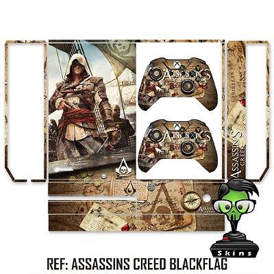 Adesivo skin xbox one fat Assassins creed Black Flag
