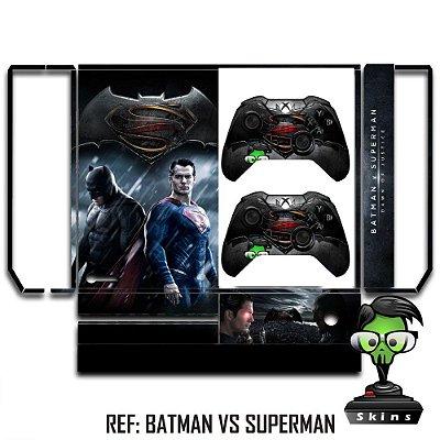 Adesivo skin xbox one fat Batman vs superman