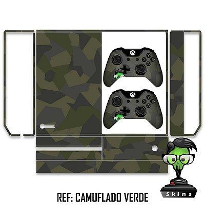 Adesivo skin xbox one fat Camuflado verde