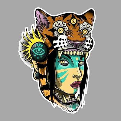 Girl tiger Sticker