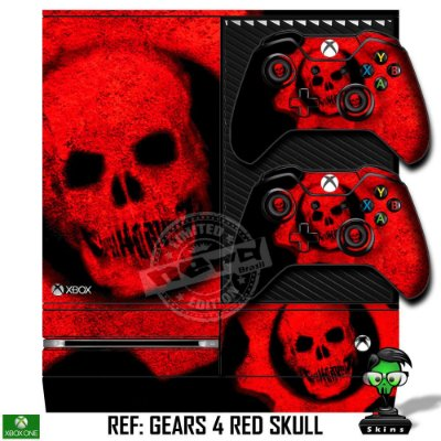 Adesivo skin xbox one fat Gears 4 skull