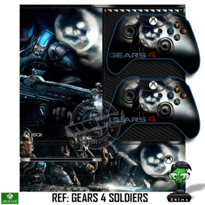 Adesivo skin xbox one fat Gears 4 soldiers