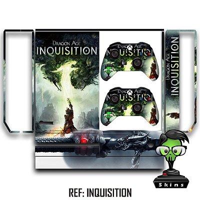 Adesivo skin xbox one fat Dragon age inquisition