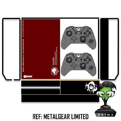 Adesivo skin xbox one fat Metalgear limited