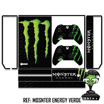 Adesivo skin xbox one fat Monster energy