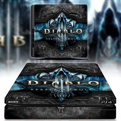 adesivo skin ps4 slim Diablo Reaper souls