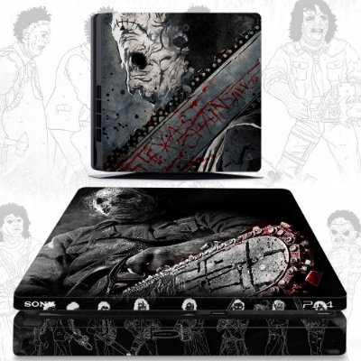 adesivo skin ps4 slim Leather face