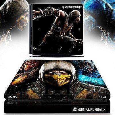 adesivo skin ps4 slim Mortal Kombat