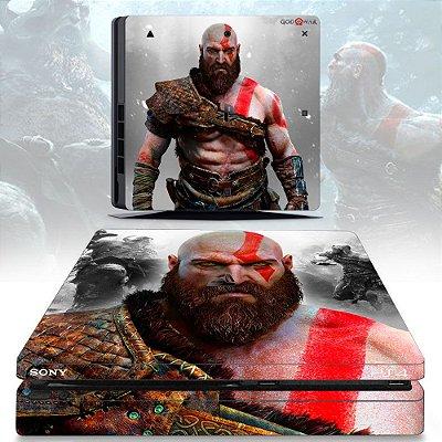 Adesivo skin ps4 slim God of War 4