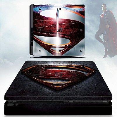 Adesivo skin ps4 slim Superman man of steel
