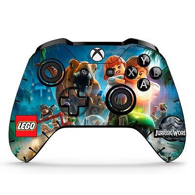 Adesivo custom controle Xbox one skin Lego Jurassic