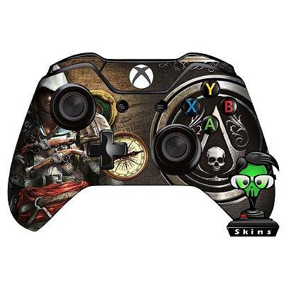 Adesivo custom controle Xbox one skin Assassins creed blackflag