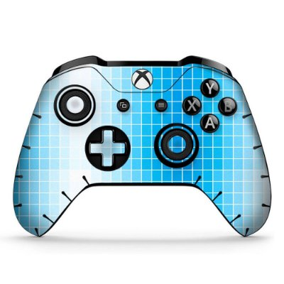 Adesivo custom controle Xbox one skin light-squares-x4