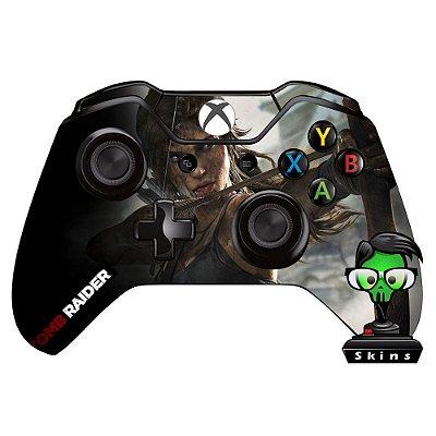Adesivo custom controle Xbox one skin Tomb Raider Lara