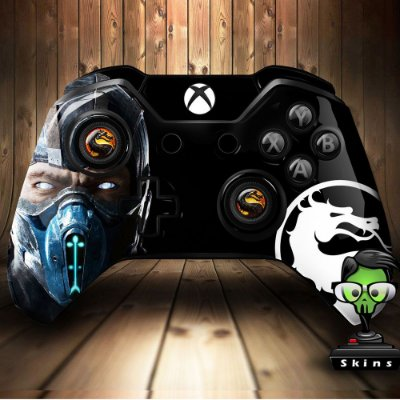 Adesivo custom controle Xbox one skin Mortal Kombat Subzero