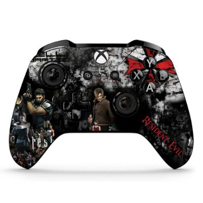 Adesivo custom controle Xbox one skin Resident evil
