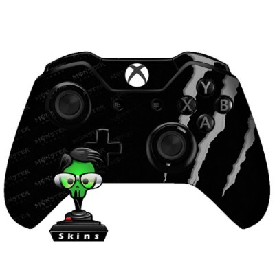 Adesivo custom controle Xbox one skin monster energy cinza