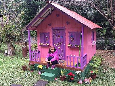Casinha de madeira - Standard - (Madeira Mista) - Extra Grande.