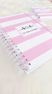 Kit Caderno médio e bloco pequeno - (Profissões)