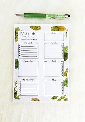 Planejamento diário - leaves