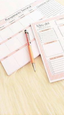 Kit Planejamento anual + diário - Light Pink