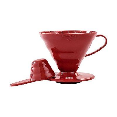 Suporte para Fitro de Café Hário V-60 Vermelho
