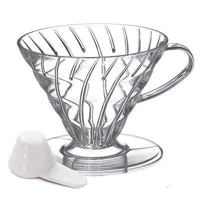 Suporte para Fitro de Café Hário V-60 Transparente