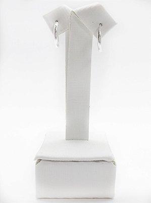 Brinco argola prata 925 fio redondo