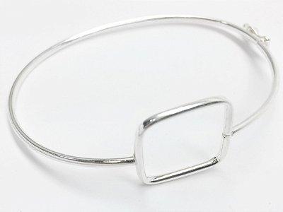 Bracelete Prata 925 Liso Aro Arredondado