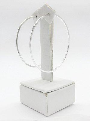 Brinco argola prata 925 fio quadrado