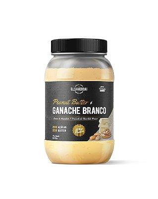 Pasta de Amendoim  Ganache Branco com Whey  Zero açucar 500g