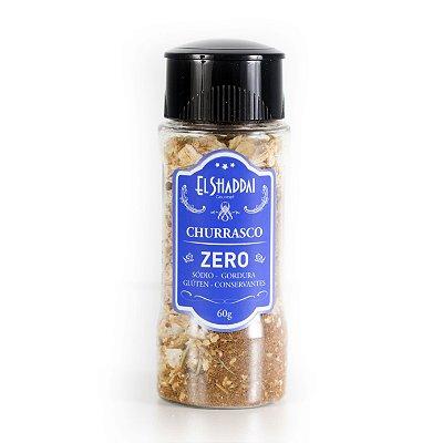 Tempero Churrasco Natural, zero sódio e calorias, pote moedor.