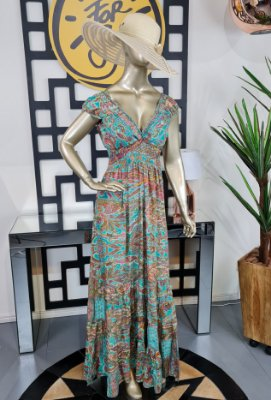 Vestido Iris Longo Gold