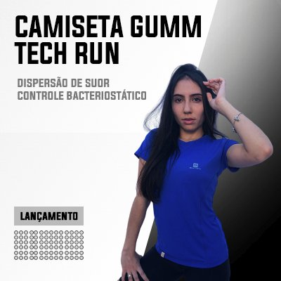 Camiseta Fem Tech Run Azul