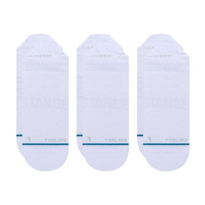 Meia Stance Invisible Prime Tab 3 - pack com 3 pares - Branca