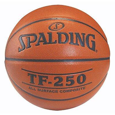 Bola De Basquete Spalding TF250 Laranja - Microfibra TAM. 5 - Indoor / Outdoor