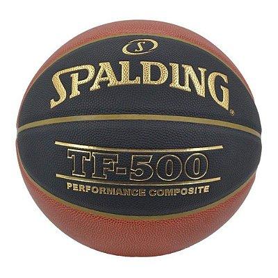 Bola De Basquete Spalding TF500 CBB Preta - Microfibra - Indoor / Outdoor