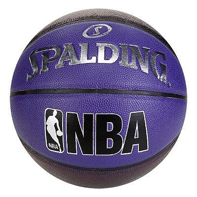 Bola De Basquete Spalding - NBA Pearl - Microfibra - Roxa