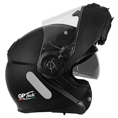 Capacete GP Tech A118 SV Mono Articulado Robocop Matte - Preto
