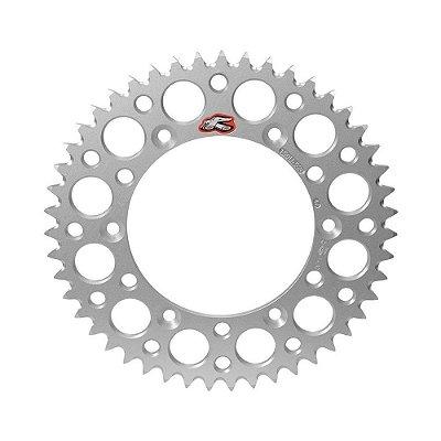 Coroa Renthal Alumínio KTM 60/65 - 420x49 Dentes - Prata