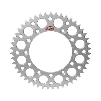 Coroa Renthal Alumínio KX 125/250/250F/450F 87/15 - 520x47 Dentes - Prata
