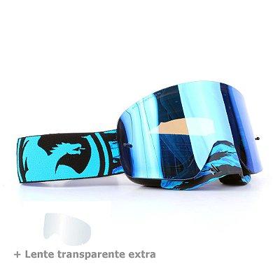 Óculos Dragon NFX Frenzy - Lente Azul Espelhada + Lente Transparente