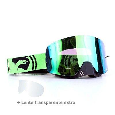 Óculos Dragon NFX-S Split Verde - Lente Verde Espelhada + Lente Transparente